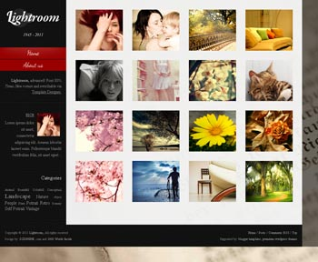 LightRoom blogger template. photography blogger template